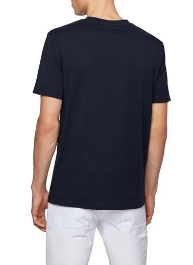 Hugo Boss  % 100 Pamuklu Bisiklet Yaka T Shirt Erkek T Shırt 50450911 404 Lacivert